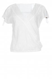 Patrizia Pepe |  Blouse with lace details Maria | white  | Picture 1