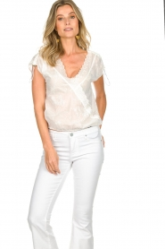 Patrizia Pepe |  Blouse with lace details Maria | white  | Picture 2