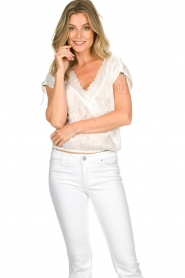 Patrizia Pepe |  Blouse with lace details Maria | white  | Picture 3