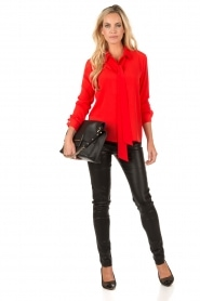 Bow tie blouse Fabienne | red