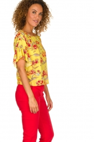 Patrizia Pepe |  Floral blouse Sienna | yellow  | Picture 4