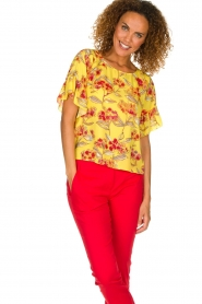 Patrizia Pepe |  Floral blouse Sienna | yellow  | Picture 2