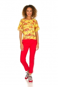 Patrizia Pepe |  Floral blouse Sienna | yellow  | Picture 3