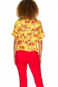 Patrizia Pepe |  Floral blouse Sienna | yellow  | Picture 5