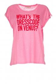 Patrizia Pepe | Linen T-shirt Gilulia | pink  | Picture 1