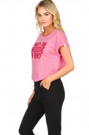 Patrizia Pepe | Linen T-shirt Gilulia | pink  | Picture 4
