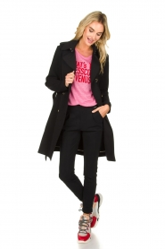 Patrizia Pepe | Linen T-shirt Gilulia | pink  | Picture 3