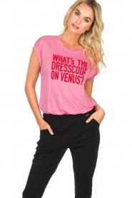 Patrizia Pepe | Linen T-shirt Gilulia | pink  | Picture 2