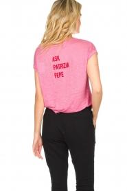 Patrizia Pepe | Linen T-shirt Gilulia | pink  | Picture 5