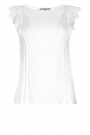 Patrizia Pepe | Top with lace Mylena | white  | Picture 1
