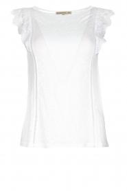 Patrizia Pepe | Top with lace Mylena | white  | Picture 1