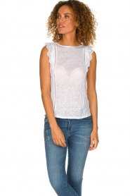 Patrizia Pepe | Top with lace Mylena | white  | Picture 2