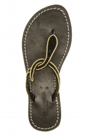Laidback London |  Leather sandals Lana | black  | Picture 1