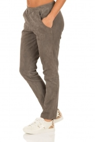 Suede pants Bobbi | grey