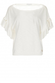 Patrizia Pepe | Top with studs Hermione | white  | Picture 1