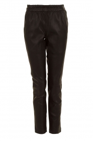Leather pants Bobbi | black