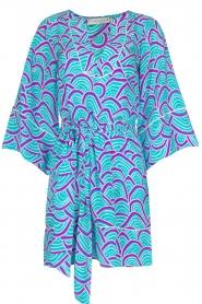 Alice & Trixie | 100% zijden jurk Carolina | Blauw  | Afbeelding 1