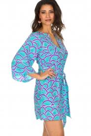 Alice & Trixie | 100% zijden jurk Carolina | Blauw  | Afbeelding 5