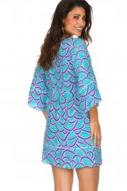 Alice & Trixie | 100% zijden jurk Carolina | Blauw  | Afbeelding 6