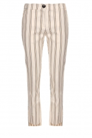 Patrizia Pepe |  Striped trousers Ella | natural  | Picture 1
