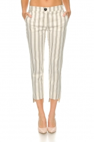 Patrizia Pepe |  Striped trousers Ella | natural  | Picture 3