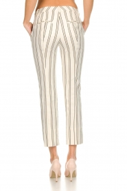 Patrizia Pepe |  Striped trousers Ella | natural  | Picture 5