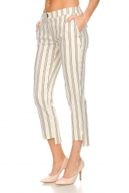 Patrizia Pepe |  Striped trousers Ella | natural  | Picture 4