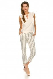 Patrizia Pepe |  Striped trousers Ella | natural  | Picture 6