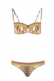 Camilla | Push-up bikini met Swarovski Elsal | bruin  | Afbeelding 1
