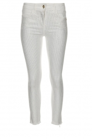 Patrizia Pepe |  Strass pants Liona | white  | Picture 1