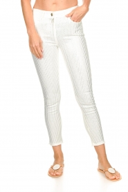 Patrizia Pepe |  Strass pants Liona | white  | Picture 3