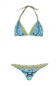 Camilla | Bikini met Swarovski Gold Ball | blauw  | Afbeelding 1