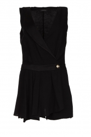 Patrizia Pepe |  Playsuit with skirt detail Elena | black  | Picture 1