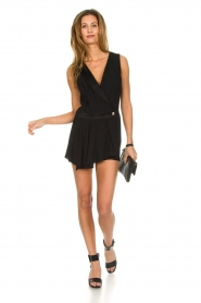 Patrizia Pepe |  Playsuit with skirt detail Elena | black  | Picture 3