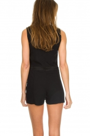 Patrizia Pepe |  Playsuit with skirt detail Elena | black  | Picture 5