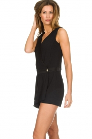 Patrizia Pepe |  Playsuit with skirt detail Elena | black  | Picture 4
