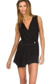 Patrizia Pepe |  Playsuit with skirt detail Elena | black  | Picture 2