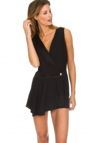 Patrizia Pepe |  Playsuit with skirt detail Elena | black  | Picture 6