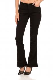 Aaiko | Flared jeans Riff| zwart  | Afbeelding 2