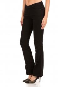 Aaiko | Flared jeans Riff| zwart  | Afbeelding 4