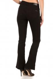 Aaiko | Flared jeans Riff| zwart  | Afbeelding 5