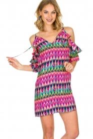 Alice & Trixie | 100% zijden jurk Cece | Roze  | Afbeelding 2