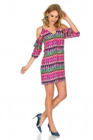 Alice & Trixie | 100% zijden jurk Cece | Roze  | Afbeelding 3
