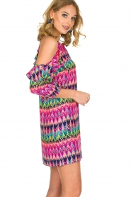 Alice & Trixie | 100% zijden jurk Cece | Roze  | Afbeelding 4