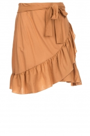 Patrizia Pepe |  Ruffle skirt Luciana | brown  | Picture 1