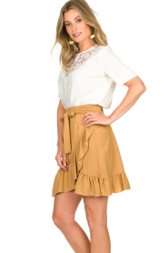 Patrizia Pepe |  Ruffle skirt Luciana | brown  | Picture 4
