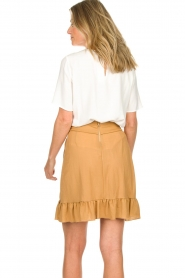 Patrizia Pepe |  Ruffle skirt Luciana | brown  | Picture 5