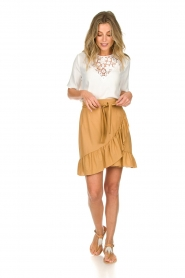 Patrizia Pepe |  Ruffle skirt Luciana | brown  | Picture 3