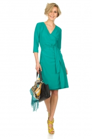 D-ETOILES CASIOPE |  Wrap dress Nois | sea green  | Picture 3