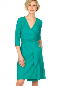 D-ETOILES CASIOPE |  Wrap dress Nois | sea green  | Picture 2